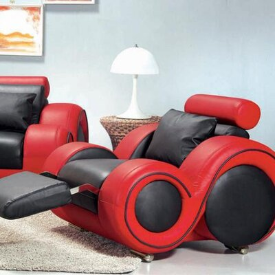 Hokku Designs Hematite Leather Chair
