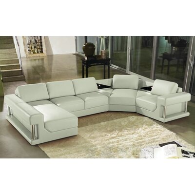 Hokku Designs Eben Leather Sectional