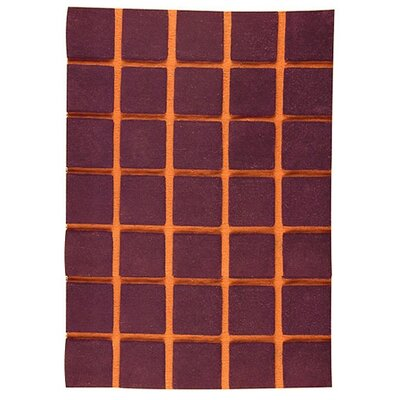 Hokku Designs Manhattan Brown/Orange Rug