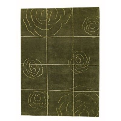 Hokku Designs Rose Green Rug