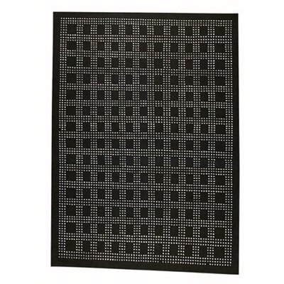 Hokku Designs Rain Black Rug