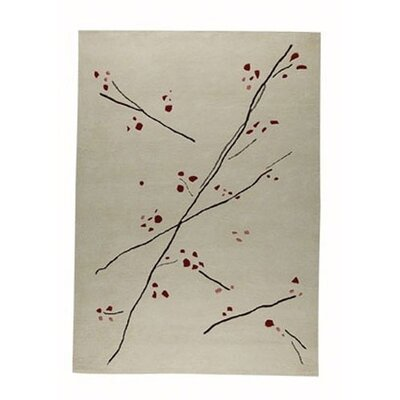 Hokku Designs Inari White/Red Rug