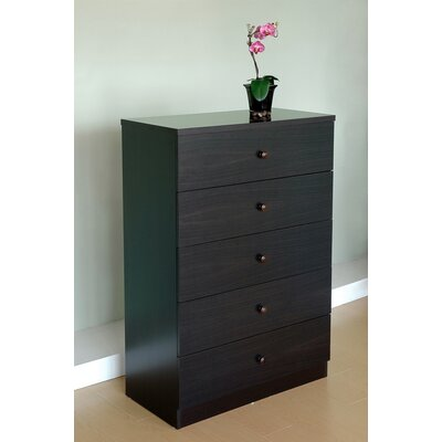 Hokku Designs York Modern 5 Drawer Chest