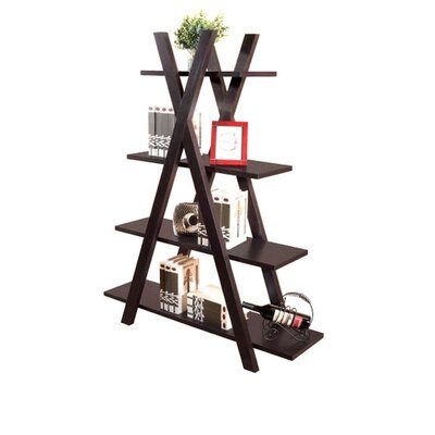 Hokku Designs Torey Five-Shelves Bookcase / Display Cabinet in Coffee Bean