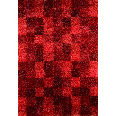 Hokku Designs Madrian Wine Shag Rug