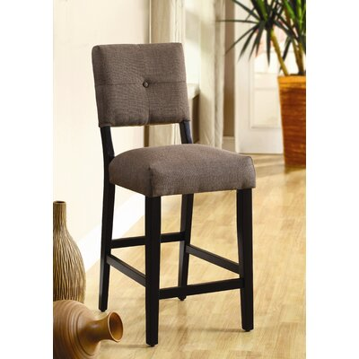 Hokku Designs Grant Upholstered Counter Height Dining Chair in Brown (Set of 2)