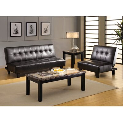 Hokku Designs Belmont Leatherette Convertible Sofa