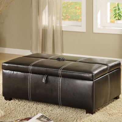 Hokku Designs Apolline Leatherette Sleeper Ottoman