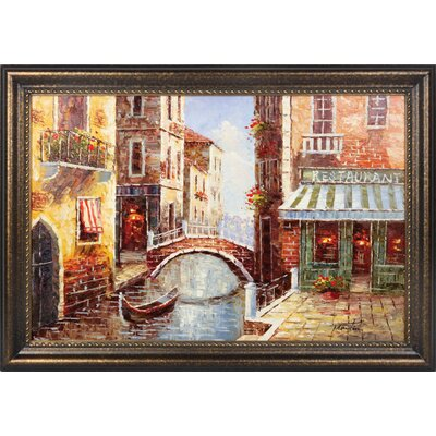 The Bridge Hand Painted Oil Canvas Art with Frame