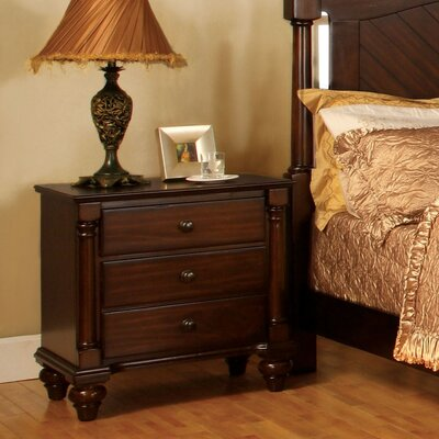 Hokku Designs Dean 3 Drawer Nightstand