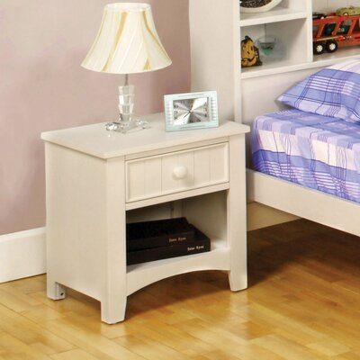 Hokku Designs Alyssa 1 Drawer Nightstand