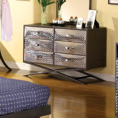Hokku Designs Metro 6 Drawer Metal Dresser
