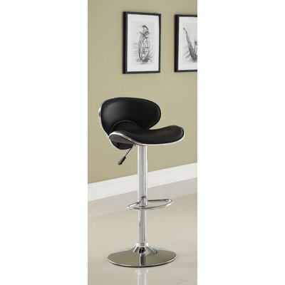 Vince Leatherette Adjustable Bar Stool