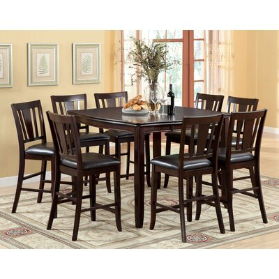 Hokku Designs Nappa 9 Piece Counter Height Dining Set