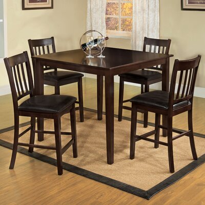 designs clarks 5 piece counter height dining set reviews wayfair