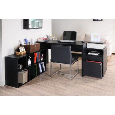 Hokku Designs Concept 2 Piece Modular Office Desk with Bookcase
