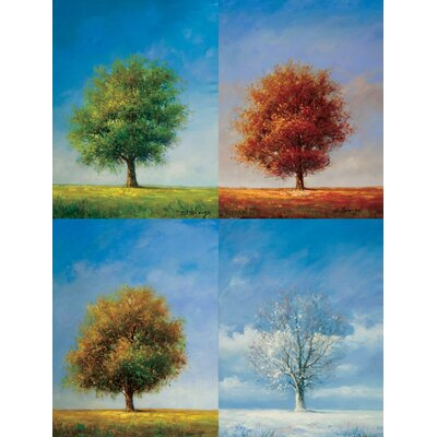 "Hokku Designs Color and Season Oil Painting on Canvas Art - 48"" x 36"""