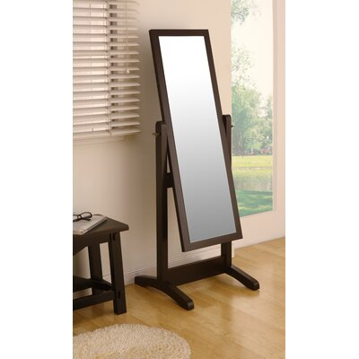 Hokku Designs Loft Cheval Adjustable Mirror in Rich Matte Coffee Bean