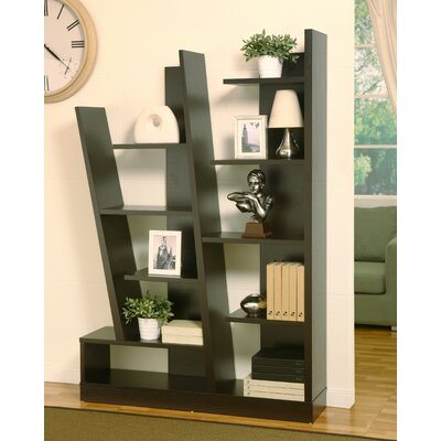 Hokku Designs Lotta Modern Bookcase / Display Cabinet in Red Cocoa Brown