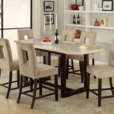 hokku designs keystone counter height dining table