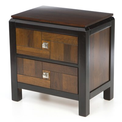 Hokku Designs Petra 2 Drawer Nightstand