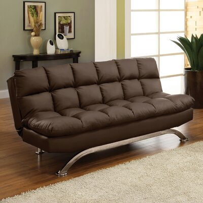 Hokku Designs Aristo Bi-Cast Leather Convertible Sofa