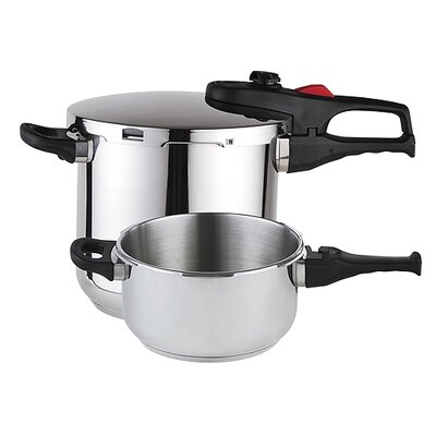 Practika Plus 3 Piece Stainless Steel Super Fast Pressure Cooker Set