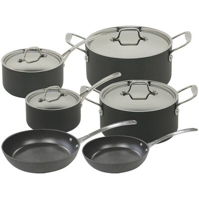 Vulcano Hard Anodized Aluminum 10-Piece Cookware Set