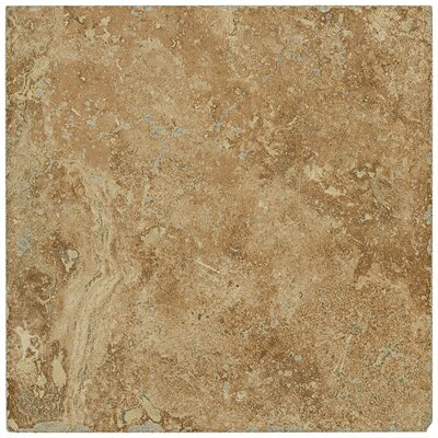 "Shaw Floors Piazza 6.5"" x 6.5"" Ceramic Tile in Cotto"