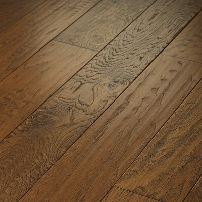 "Shaw Floors Epic Pebble Hill 5"" Engineered Hickory Flooring in Warm Sunset"