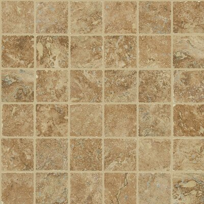 "Shaw Floors Piazza 13"" x 13"" Mosaic Tile Accent in Cotto"