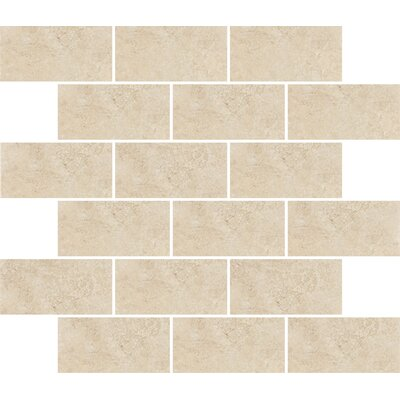 "Shaw Floors Padova 10"" x 12"" Subway Mosaic Accent Tile in Beige"