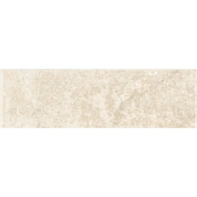 "Shaw Floors Padova 10"" x 3"" Wall Bullnose Tile Trim in Beige"