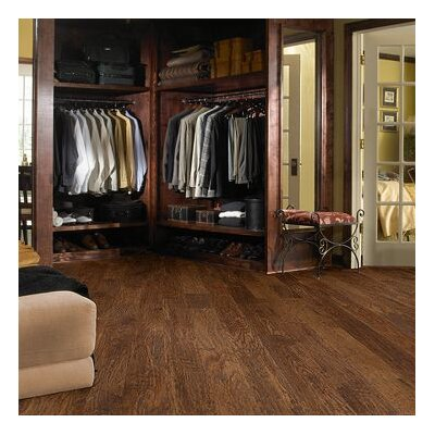 "Shaw Floors Panorama 6-3/8"" Engineered Handscraped Hickory Flooring in Evening Glow"