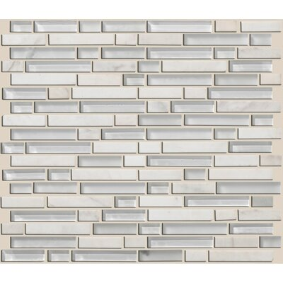 "Shaw Floors Mixed Up 12"" x 12"" Random Linear Mosaic Stone Accent Tile in Snow Peak"
