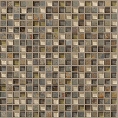 Shaw Floors Mixed Up Mosaic Slate Accent Tile in Spring Valley
