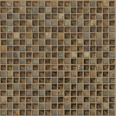 "Shaw Floors Mixed Up 12"" x 12"" Mosaic Slate Accent Tile in Piedmont"