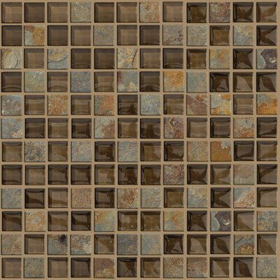 """Shaw Floors Mixed Up 12"""" x 12"""" Mosaic Slate Accent Tile in Piedmont"""
