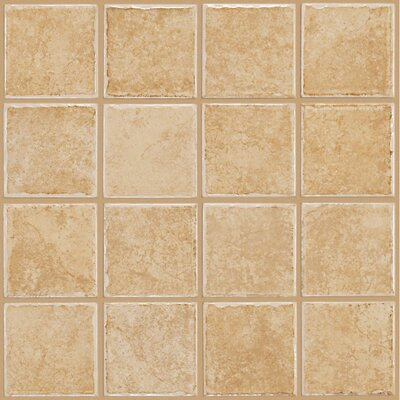 "Shaw Floors Colonnade 3"" x 3"" Ceramic Floor Tile in Gold"