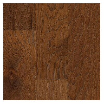 "Shaw Floors Jubilee Honey 5"" Engineered Hickory Flooring in Burnt Amber"