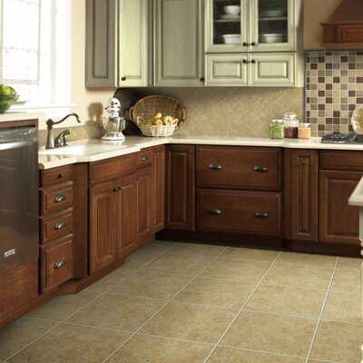 "Shaw Floors La Paz 13"" x 13"" Ceramic Tile in Dorado"