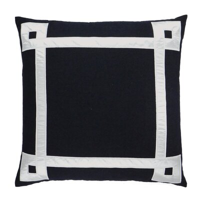 NECTARmodern Applique Ribbon Embroidered Throw Pillow