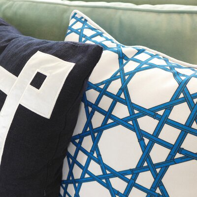 NECTARmodern Bamboo Cane Wicker Weave Throw Pillow