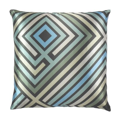 Maze Graphic Zig Zag Throw Pillow
