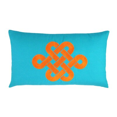 Fortune Knot Chinoserie Embroidered Throw Pillow