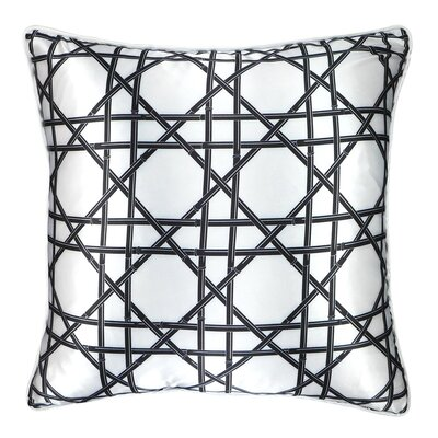Bamboo Cane Wicker Weave Throw Pillow