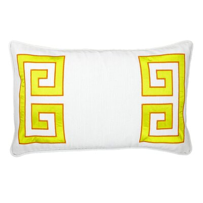 NECTARmodern Parenthetikey Embroidered Greek Key Lumbar Throw Pillow