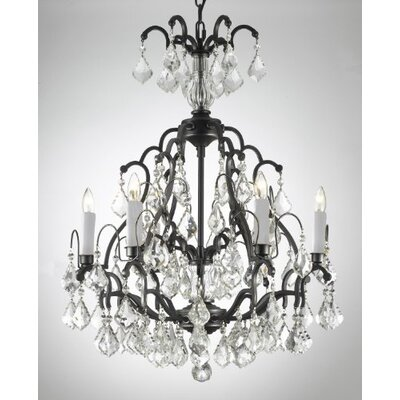 Versailles 6 Light Crystal Chandelier