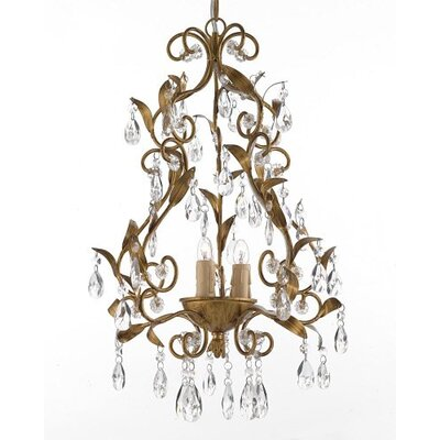 3 Light Crystal Chandelier