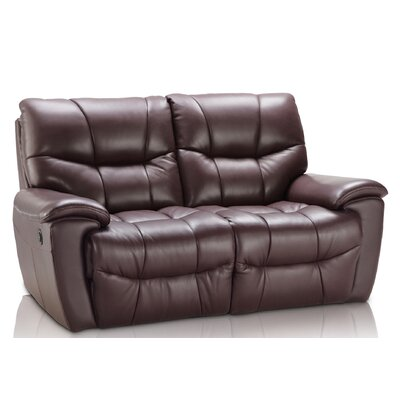 Solana Leather Reclining Loveseat